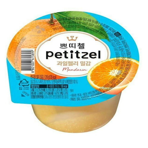 CJ 쁘티첼 과일젤리 밀감 90g, Petitzel geléia de fruta milgam