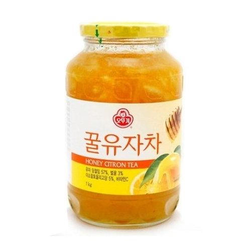 오뚜기 꿀유자차 1kg, Chá de Yuza(asia limão) e mel 1kg