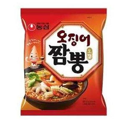 농심 오징어 짬뽕, 124g, Ramen Ojingeo Champong 124g