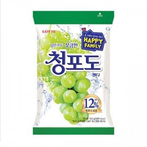 롯데 청포도캔디 153g, Doce com sabor de uva verde153g