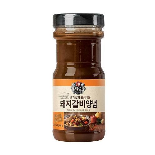 CJ 백설 돼지갈비양념 840G  BBQ Coreano Marinada de churrasco de porco 840g