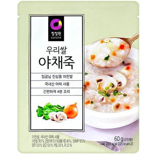 청정원 우리쌀 야채죽(2인분) 60G, Mingau de vegetais para 2 porções