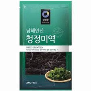 청정원 청정미역 200G alga seca (wakame) 200g