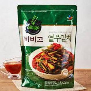 CJ 비비고 열무김치 500G Yeolmu kimchi - rabanete jovem