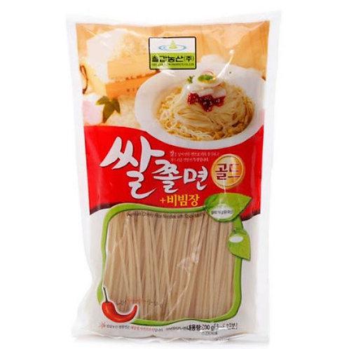 칠갑농산 건쌀 쫄면 골드(양념장) 600g, Arroz jjolmyeon com Tempero