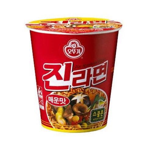 오뚜기 진라면 컵 매운맛 65g, Jin Ramen  Copo Sabor Picante 65g