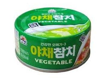 사조 야채참치 (안심따개) 150G atum enlatado em legumes 150g