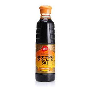 샘표 양조간장 501S 500ML, 501 Molho de soja 500ml-fabricado naturalmente 501