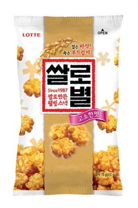 롯데 쌀로별 고소한맛 78g, Lotte Ssalo Byul 78g