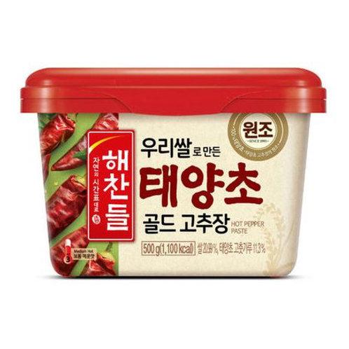 해찬들 우리쌀로 만든 태양초 골드 고추장 (내수용) 500g, Haechandl Gochujang