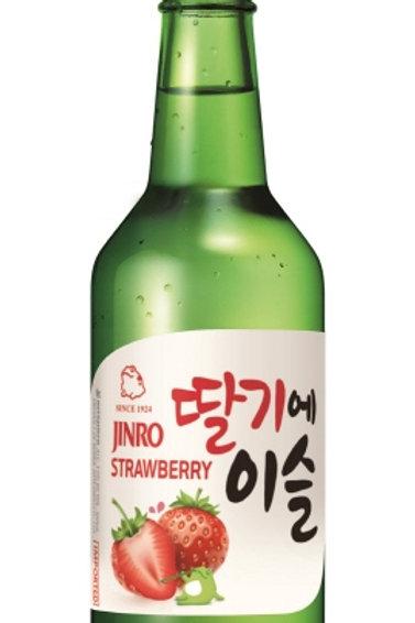진로 딸기에 이슬360ml 13%, Jinro soju morango