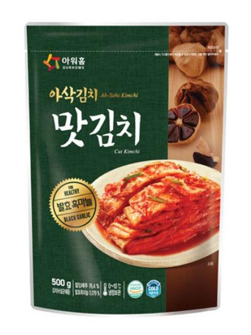 아워홈 흑마늘 맛김치 400g, Corte Baechu Kimchi com alho preto