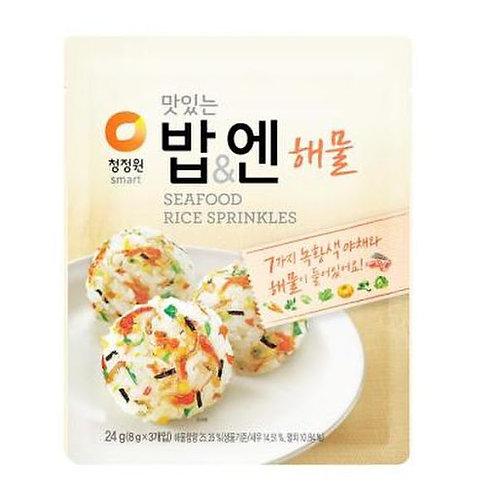 청정원 맛있는밥엔 해물맛 (8g x 3), Granulado Vários Frutos do mar secos(8g x 3)