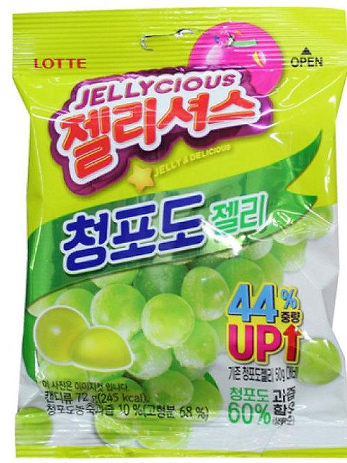 롯데 젤리셔스 청포도젤리 72g, Jellycious Uva verde Jelly