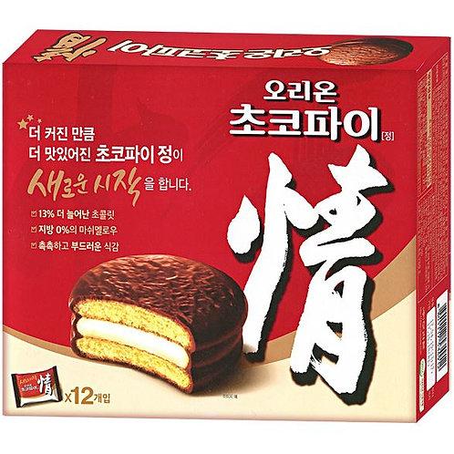 오리온 초코파이 내수용 468g, CHOCOPIE torta de chocolate(12p)