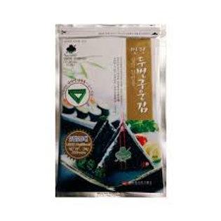 만전 삼각김밥김(틀포함) 24G(20매) alga marinhas 24g duas veses assadas P/triângulo kimbap