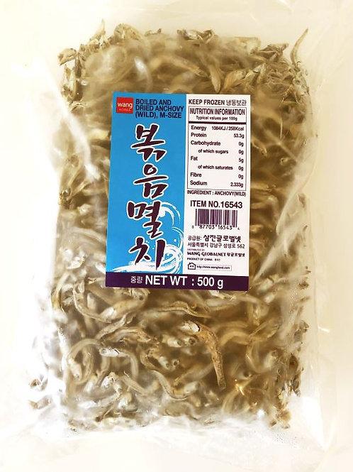왕식품 볶음멸치 500g, Anchovas secas para refogar