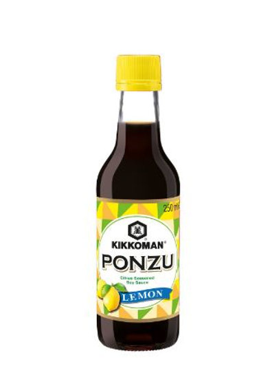 Molho de Soja com Limão Ponzu garrafa 250 ml · Kikkoman