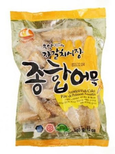 삼학 부산 자갈치시장 종합어묵 340g, bolo de peixe geral