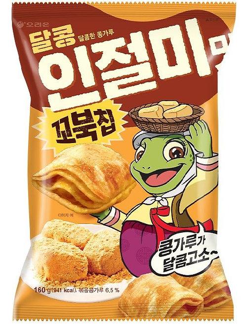 오리온꼬북칩 달콩인절미맛160g, Cobuk chip Sabor Injeolmi