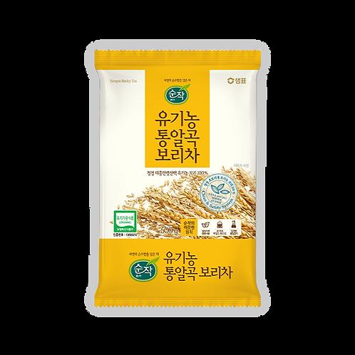 샘표 순작 유기농 통알곡 보리차 500g, Chá de cevada de grãos integrais orgânicos Sempyo