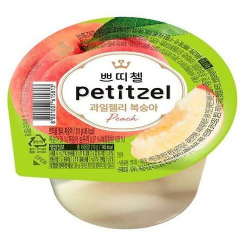CJ 쁘티첼 과일젤리 복숭아 90g, Petitzel geléia de fruta pêssego