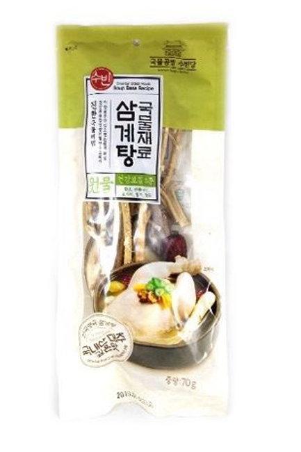 수빈 삼계탕 국물재료 70g, Ingredientes para Sopa Samgyetang