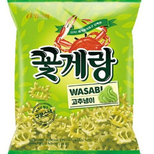 빙그레 꽃게랑 와사비 70g, Binggre Cotquerang Wasabi Snack