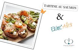 Etinc'Ailes : Tartine au saumon