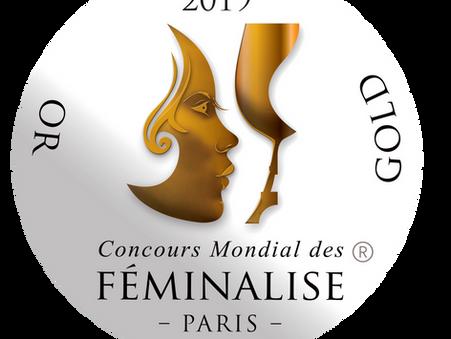 Médaille d'or du concours mondial des féminalises Féminalise