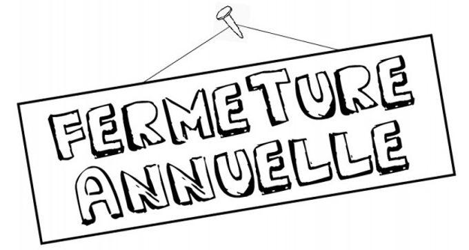 Du 25 décembre au 4 janvier 2021 : Fermeture Annuelle