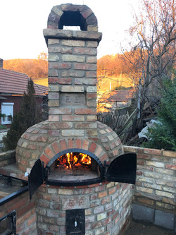 Outdoor backing oven in the garden