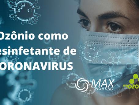 Ozônio como Desinfetante de Coronavírus