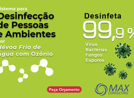 Desinfecção de Pessoas e Ambientes por Névoa de Ozônio