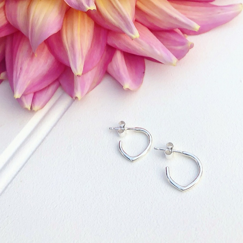 Mini Teardrop Hoops