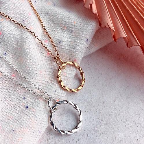 Woven Circle Necklace