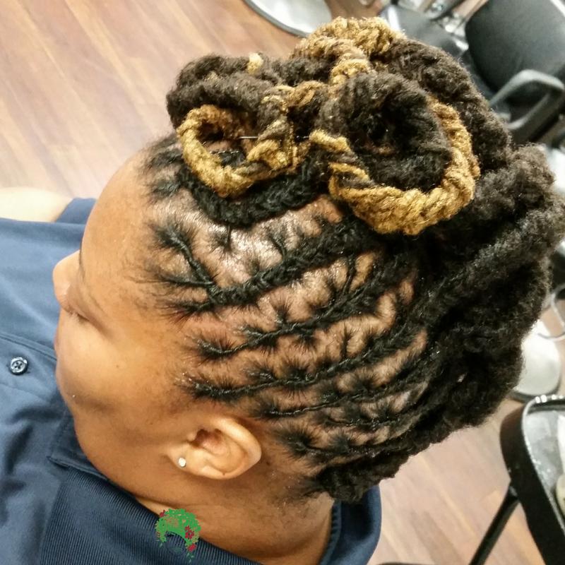 Braided Pin Curls