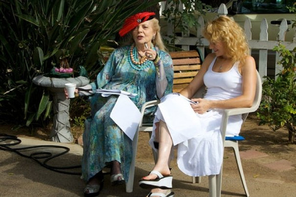 BTS Barbara Bain and Eileen rehearsing o
