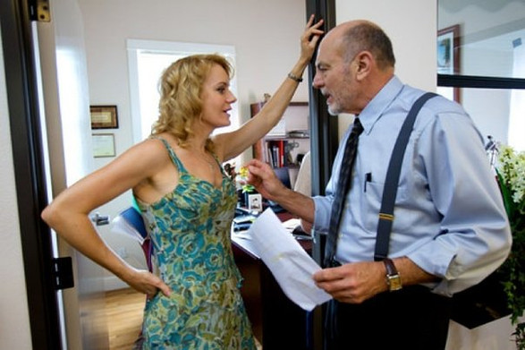 Carmen Argenziano and Eileen on set of G