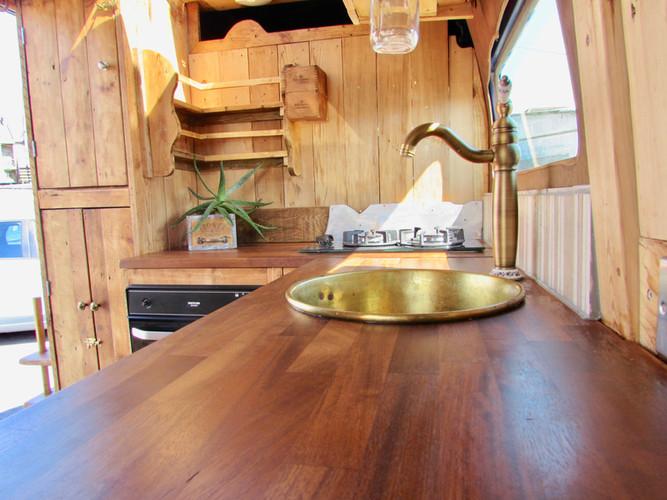 Custom made campervan kitchens.