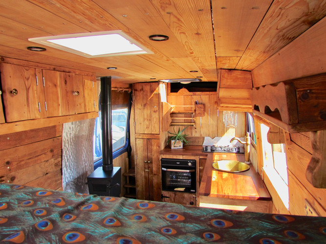 A rustic home on wheels