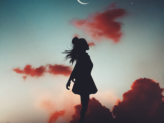 silhouette-of-girl-during-evening-180479