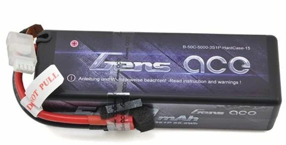 Gens Ace 3s LiPo Battery Pack 50C w/Deans Connector (11.1V/5000mAh)