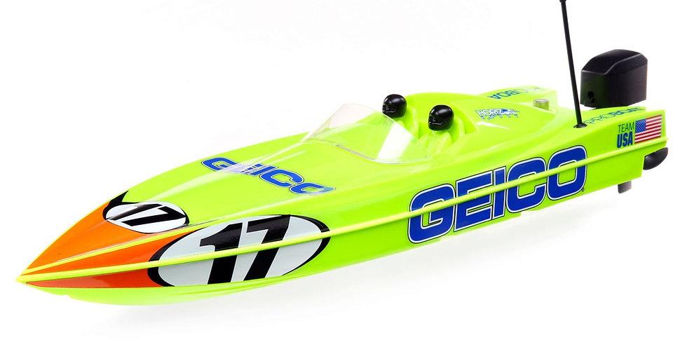 "Miss GEICO 17"" Power Boat Racer Deep-V RTR"