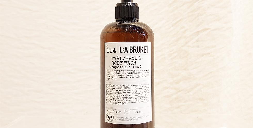 LA:BRUKET hand&body wash  194グレープフルーツリーフ 450ml