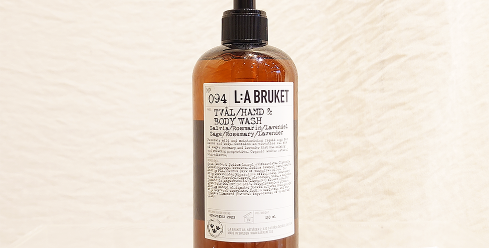 LA:BRUKET hand&body wash  094 セージ/ローズマリー/ラベンダー 450ml