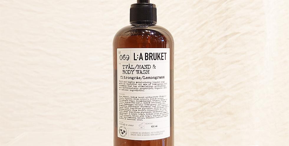 LA:BRUKET hand&body wash  069レモングラス 450ml