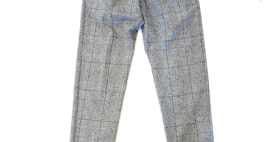 WHITE SAND  wool check pants