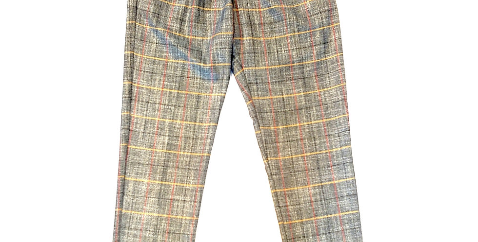 WHITE SAND  check pants