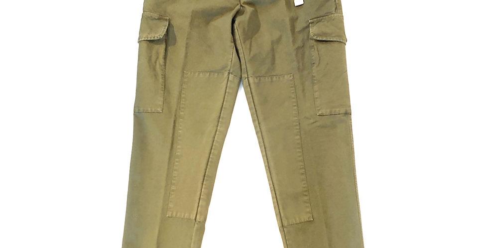 WHITE SAND  cotton twill cargo pants